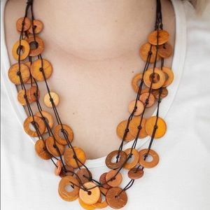 New Paparazzi Wonderfully Walla Orange Necklace